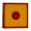 iCanvas Modern Art Red Hot Sun Graphic Art on Canvas
