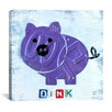 iCanvas Oink the Pig from Design Turnpike Collection Canvas Wall Art