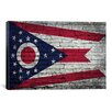 iCanvas Flags Ohio Brick Wall Graphic Art on Canvas