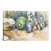iCanvasArt 'Nature Morte Au Melon Vert 1902-1906' by Paul Cezanne Painting Print on Canvas