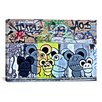 <strong>iCanvasArt</strong> Street Art 'Of Mostly Mice Graffiti' Painting Print on Canvas