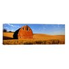 iCanvas Panoramic Old barn in a Wheat Field, Palouse, Washington State Photographic Print on Canvas