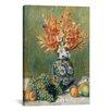 iCanvasArt 'Nature Morte, Fleurs Et Fruits 1889' by Pierre-Auguste Renoir Painting Print on Canvas