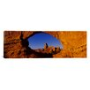 iCanvasArt Panoramic Natural Arch on a Landscape, Arches National Park, Utah Photographic Print on Canvas