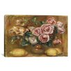 iCanvas 'Nature Morte: Bouquet De Roses Avec Citrons' by Pierre-Auguste Renoir Painting Print on Canvas