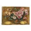 iCanvasArt 'Nature Morte: Bouquet De Roses Avec Citrons' by Pierre-Auguste Renoir Painting Print on Canvas