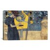 iCanvasArt 'Musik I 1895' by Gustav Klimt Painting Print on Canvas