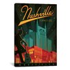 iCanvas 'Nashville, Tennessee' by Anderson Design Group Vintage Advertisement on Canvas