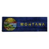 <strong>iCanvasArt</strong> Flags Montana Planks Panoramic Graphic Art on Canvas