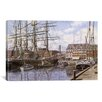 iCanvas 'New York City, Pier 28 California 1876' by Stanton Manolakas Painting Print on Canvas