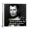 iCanvas Napoleon Bonaparte Quote Canvas Wall Art
