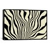 <strong>iCanvasArt</strong> Modern Art Zebra Print Graphic Art on Canvas