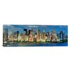 <strong>iCanvasArt</strong> Panoramic 'New York Skyline Cityscape (Manhattan)' Photographic Print on Canvas