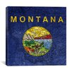 iCanvas Flags Montana Map Graphic Art on Canvas