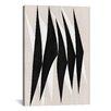 iCanvasArt Modern Art Zebra Print Tribal Paint Graphic Art on Canvas