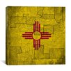 iCanvas Flags New Mexico Vintage Square Map Graphic Art on Canvas