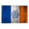 iCanvas Flags New York Wood Boards Painted Graphic Art on Canvas