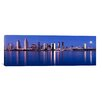 iCanvas Panoramic 'Moonrise over a City, San Diego, California 2010' Photographic Print on Canvas
