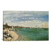 iCanvasArt Regatta at Sainte-Adresse 1867 by Claude Monet Painting Print on Canvas