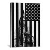 <strong>iCanvasArt</strong> Revange (American Flag with Native American ) - American Dream Graphic Art on Canvas