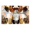 iCanvasArt Canada Moose Skull 4 Graphic Art on Canvas