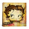 iCanvasArt Retro Betty Boop Canvas Wall Art