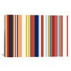 iCanvas Retro Hemptons Striped Graphic Art on Canvas