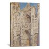iCanvasArt 'Rouen Cathedral, the Portal (Sunlight) 1894' by Claude Monet Painting Print on Canvas