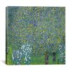 "iCanvas ""Rose, 1904"" Canvas Wall Art by Gustav Klimt"