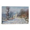 iCanvas 'Route Deggiverny En Hiver 1885' by Claude Monet Painting Print on Canvas