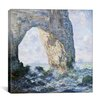 iCanvas 'Rock Arch West of Etretat (The Manneport)' by Claude Monet Painting Print on Canvas