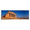 iCanvas Panoramic Ruins of a Temple, Parthenon, Athens, Greece Photographic Print on Canvas
