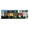 iCanvasArt Panoramic Row Houses Philadelphia, Pennsylvania Photographic Print on Canvas