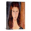 iCanvasArt 'Portrait of Jeanne Hebuterne' by Amedeo Modigliani Painting Print on Canvas