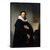 iCanvasArt 'Portrait of Johannes Wtenbogaert 1633' by Rembrandt Painting Print on Canvas