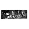 <strong>iCanvasArt</strong> Panoramic New York Skyline Cityscape Photographic Print on Canvas in Black/White
