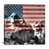 iCanvas Mount Rushmore, US Flag Graphic Art on Canvas in Multi-color