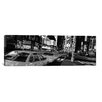 iCanvasArt Panoramic New York Skyline Cityscape (Times Square at Night) Photographic Print on Canvas in Black/White