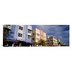 iCanvas Panoramic Art Deco Hotel, Ocean Drive, Miami Beach, Florida Photographic Print on Canvas