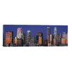 iCanvas Panoramic Los Angeles Skyline Cityscape Photographic Print on Canvas in Sunset