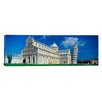 iCanvas Panoramic Pisa Cathedral, Leaning Tower of Pisa, Pisa Italy Photographic Print on Canvas