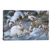 iCanvas 'Winter Hares' by Wanda Mumm Painting Print on Canvas
