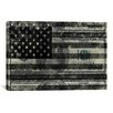 iCanvas One Hundred Dollar Bill, USA Flag Graphic Art on Canvas in Black/White