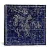 iCanvas Celestial Atlas - Plate 10 (Aquila and Antinous) by Alexander Jamieson Graphic Art on Canvas in Blue