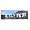 <strong>iCanvasArt</strong> Panoramic Hollywood Skyline Cityscape Photographic Print on Canvas in Sign