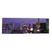 iCanvas Panoramic Las Vegas Skyline Cityscape Photographic Print on Canvas in Night