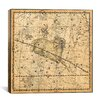 iCanvas Celestial Atlas - Plate 13 (Aries, Musca Borealis) by Alexander Jamieson Graphic Art on Canvas in Beige