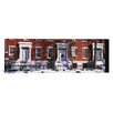 iCanvas Panoramic Facade of Houses in the 1830's Federal Style of Architecture, Washington Square, New York City Photographic Print on Canvas