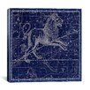 iCanvasArt Celestial Atlas - Plate 17 (Leo) by Alexander Jamieson Graphic Art on Canvas in Blue