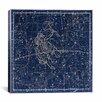 iCanvas Celestial Atlas - Plate 15 (Gemini) by Alexander Jamieson Graphic Art on Canvas in Blue